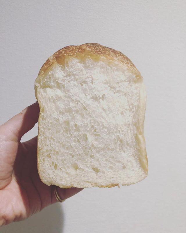 天然酵母の食パン@nagonago_pan さんからいただきものー絶妙なバランスありがとうございました。もう体の一部になりました。#天然酵母#天然酵母のパン#食パン #美味しいパン#いただきもの#ありがとうございました
